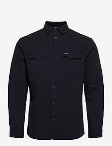 TJM DETAIL TWILL SHIRT - casual overhemden - twilight navy