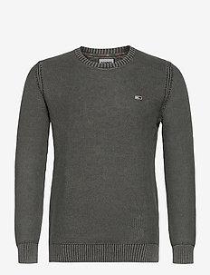 TJM ESSENTIAL WASHED SWEATER - stickade basplagg - dark grey heather