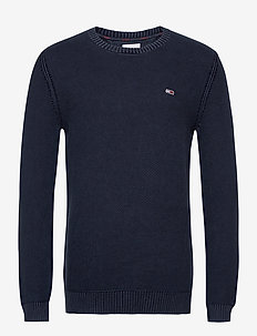 TJM ESSENTIAL WASHED SWEATER - pulls col rond - twilight navy
