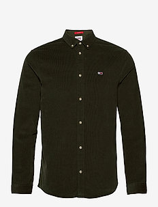 TJM CORDUROY SHIRT - casual shirts - dark olive