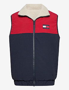 TJM REVERSIBLE RETRO VEST - vesten - light silt / wine red