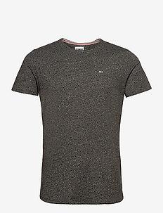 TJM SLIM JASPE C NECK - basic t-shirts - black