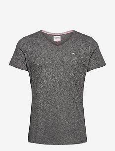 TJM SLIM JASPE V NECK - basic t-shirts - black