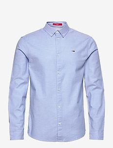 TJM SLIM STRETCH OXF - rutiga skjortor - perfume blue