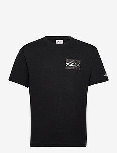 TJM BACK FLAG TEE C - basic t-shirts - black