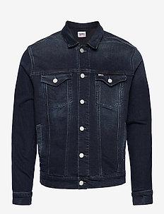 REGULAR TRUCKER JACKET COBBS - jeansjackor - cornell bl bk str