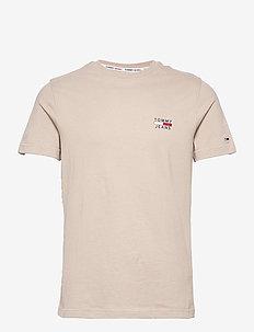 TJM CHEST LOGO TEE - t-shirts - soft beige