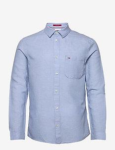 TJM LINEN BLEND SHIRT - karierte hemden - light blue