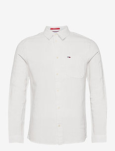 TJM LINEN BLEND SHIRT - karierte hemden - white