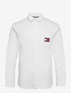TJM BADGE TENCEL TWILL SHIRT - basic skjortor - white