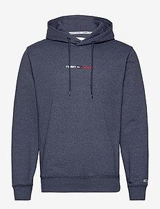 TJM STRAIGHT LOGO HOODIE - basic-sweatshirts - twilight navy htr