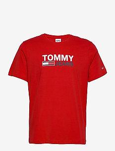 TJM CORP LOGO TEE - kortärmade t-shirts - deep crimson