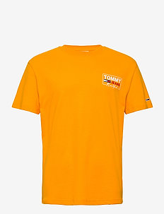 TJM NY SCRIPT BOX BACK LOGO TEE - kortärmade t-shirts - florida orange