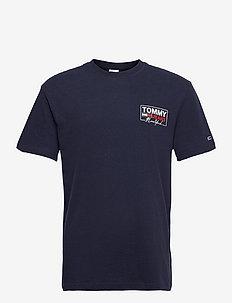 TJM NY SCRIPT BOX BACK LOGO TEE - kortärmade t-shirts - twilight navy