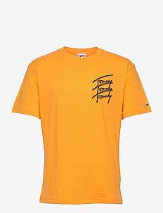 TJM TOMMY REPEAT SCRIPT TEE - kortärmade t-shirts - florida orange
