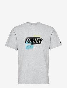 TJM FADED COLOR GRAPHIC TEE - kortärmade t-shirts - silver grey htr