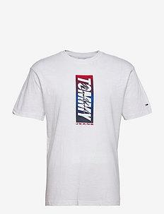 TJM VERTICAL FRONT LOGO BOX TEE - kortärmade t-shirts - white