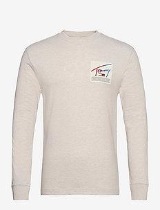 TJM TOMMY BASKETBALL LONGSLEEVE - basic t-shirts - white