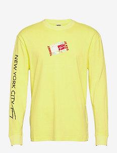 TJM SMALL FLAG BOX LOGO TEE - långärmade t-shirts - faded lime