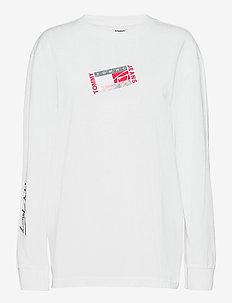 TJM SMALL FLAG BOX LOGO TEE - långärmade t-shirts - white