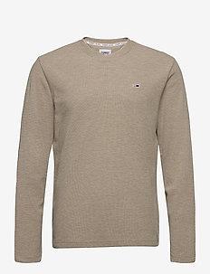TJM MINI WAFFLE JASPE LONGSLEEVE - basic t-shirts - soft beige