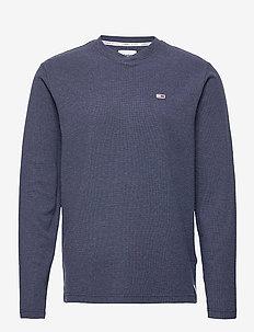 TJM MINI WAFFLE JASPE LONGSLEEVE - t-shirts - twilight navy htr