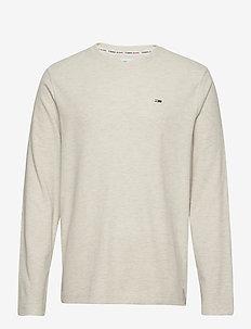 TJM MINI WAFFLE JASPE LONGSLEEVE - basic t-shirts - white htr