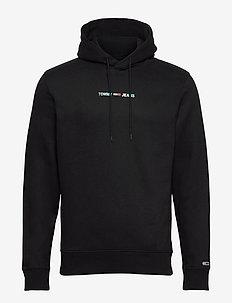 TJM SHINE STRAIGHT LOGO HOODIE C - basic sweatshirts - black
