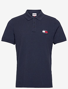 TJM TOMMY BADGE LIGHTWEIGHT POLO - kurzärmelig - twilight navy