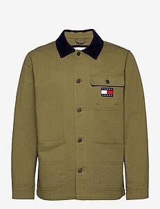 TJM BADGE WORKER JACKET - tunna jackor - uniform olive