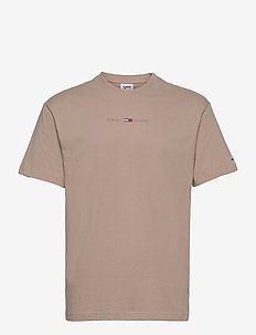 TJM GEL LINEAR LOGO TEE - basic t-shirts - soft beige