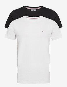TJM 2PACK CNECK TEES - t-shirts - white / black