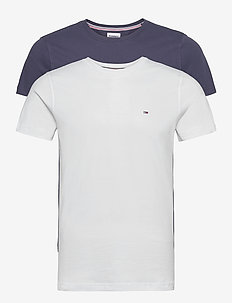 TJM 2PACK CNECK TEES - t-shirts - white / navy