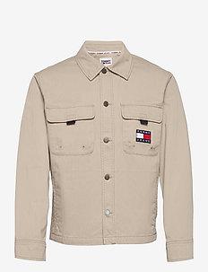 TJ US BACK GRAPHIC OVERSHIRT - tops - soft beige