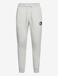 TJM SLIM BOX FLAG SWEAT PANT - collegehousut - light grey heather
