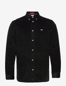 TJM REGULAR CORD SHIRT - kläder - black