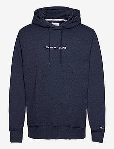 TJM STRAIGHT LOGO HOODIE - hoodies - twilight navy htr
