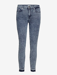 MID RISE SKINNY NORA - 80'S BLUE STRETCH