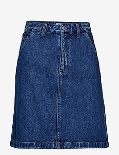 A LINE DENIM SKIRT G - GOUGH MID BLUE RIG