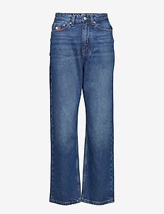 TJW MOM JEANS W16 B, - DARK BLUE DENIM