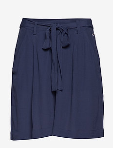TJW FLUID BOW DETAIL SHORT - bermudas - black iris