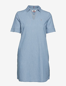 TJW RAINBOW INDIGO DRESS - LIGHT INDIGO