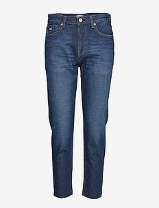 HIGH RISE SLIM IZZY CROP ACDK - straight jeans - ace dk bl com