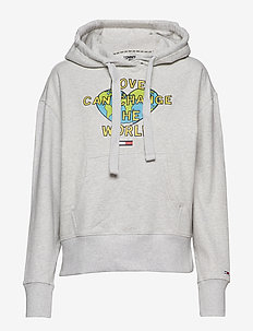 TJW LOVE HOODIE - hoodies - pale grey heather