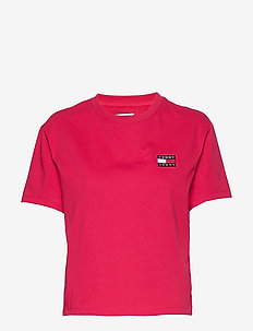 TJW TOMMY BADGE TEE - t-shirts - blush red
