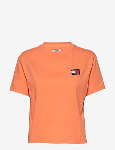 TJW TOMMY BADGE TEE - t-shirts - melon orange