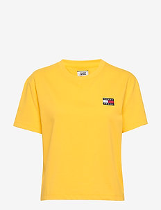 TJW TOMMY BADGE TEE - t-shirts - star fruit yellow