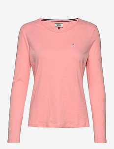 TJW SOFT JERSEY LONG - long-sleeved tops - pink icing