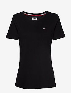 TJW SOFT JERSEY TEE - basic t-shirts - tommy black