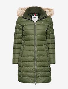 TJW ESSENTIAL HOODED - wyściełane płaszcze - kombu green